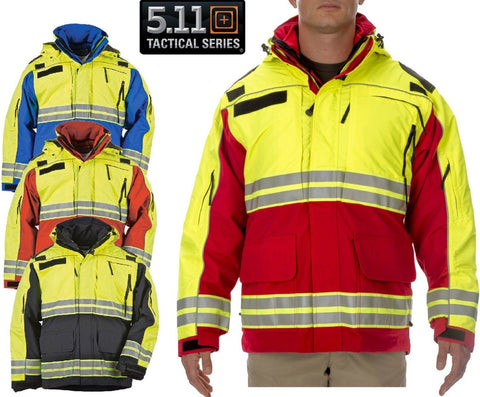 5.11 Tactical Emergency Responders Hi Vis Field Duty EMS Waterproof Parka Jacket