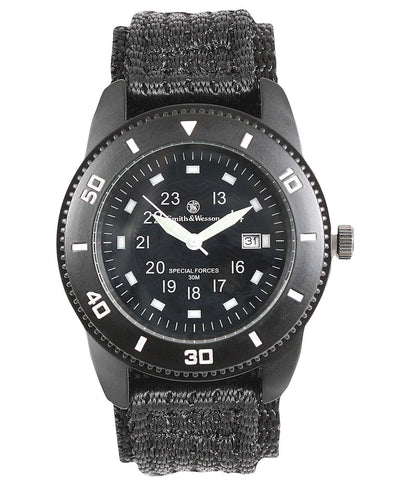New Smith & Wesson Commando Watch Black Special Forces Wristwatch Mens Watches