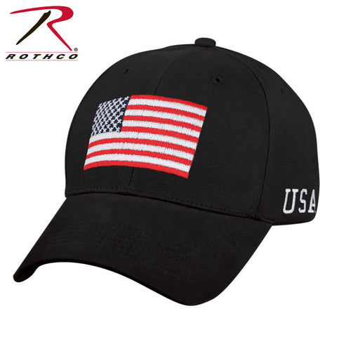 Rothco USA Flag Mid-Low Profile Cap - Embroidered U.S. Flag Baseball Hat