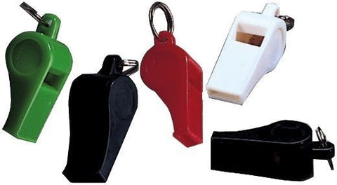 Plastic Whistle 12 Pack In Assorted Colors - Great For Coaches, Referees, & More