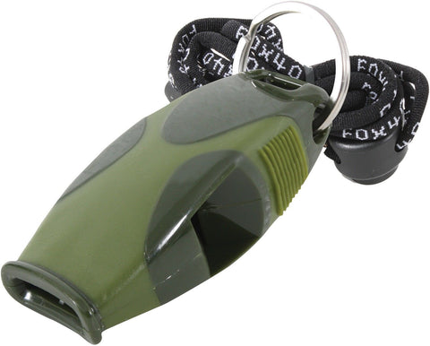 FOX 40 OD/Black Shark Safety Whistle Includes Lanyard - 120dB Pealess Design