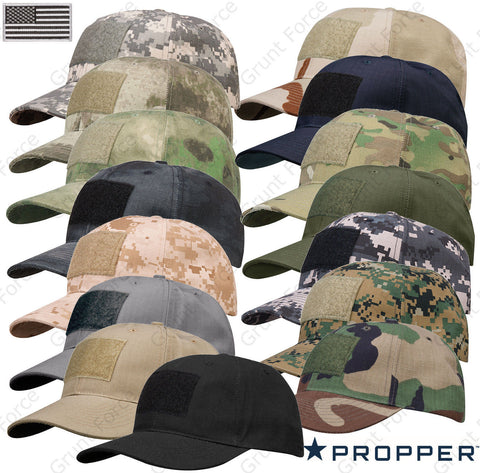 "Propper® 6-Panel Cap With 3""x2"" Loop Field & Patch - Adjustable Tactical Hat"
