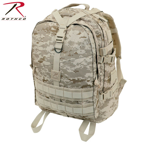 Rothco Desert Digital Large Transport Pack, MOLLE & Hydration Bladder Compatible