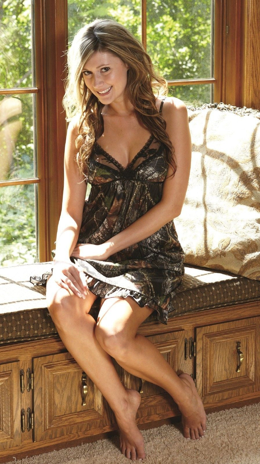 Womens Naked North Snow Or Mossy Oak Break-Up Camo Sexy Chemise Linge  Grunt Force-2734