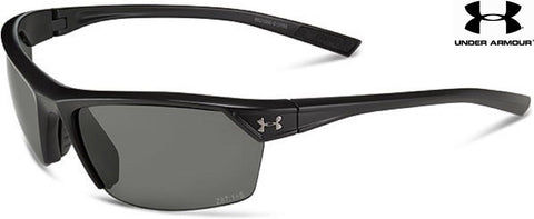 Under Armour Men's Satin Black Zone 2.0 WWP Sunglasses w/ Interchangeable Lenses