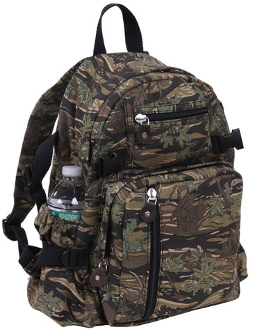 Smokey Branch Camouflage Heavyweight Canvas Compact Mini-Backpack Bag