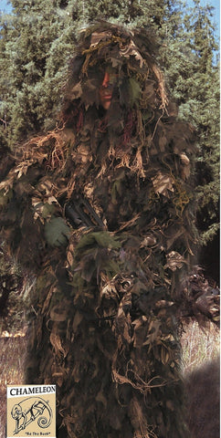 Bush Rag Chameleon Synthetic Ghillie Suit Hunting Jacket & Hood One-Piece Combo