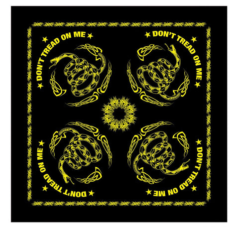 "22"" Black & Yellow Marines Gadsden Flag ""Don't Tread On Me"" Bandana"