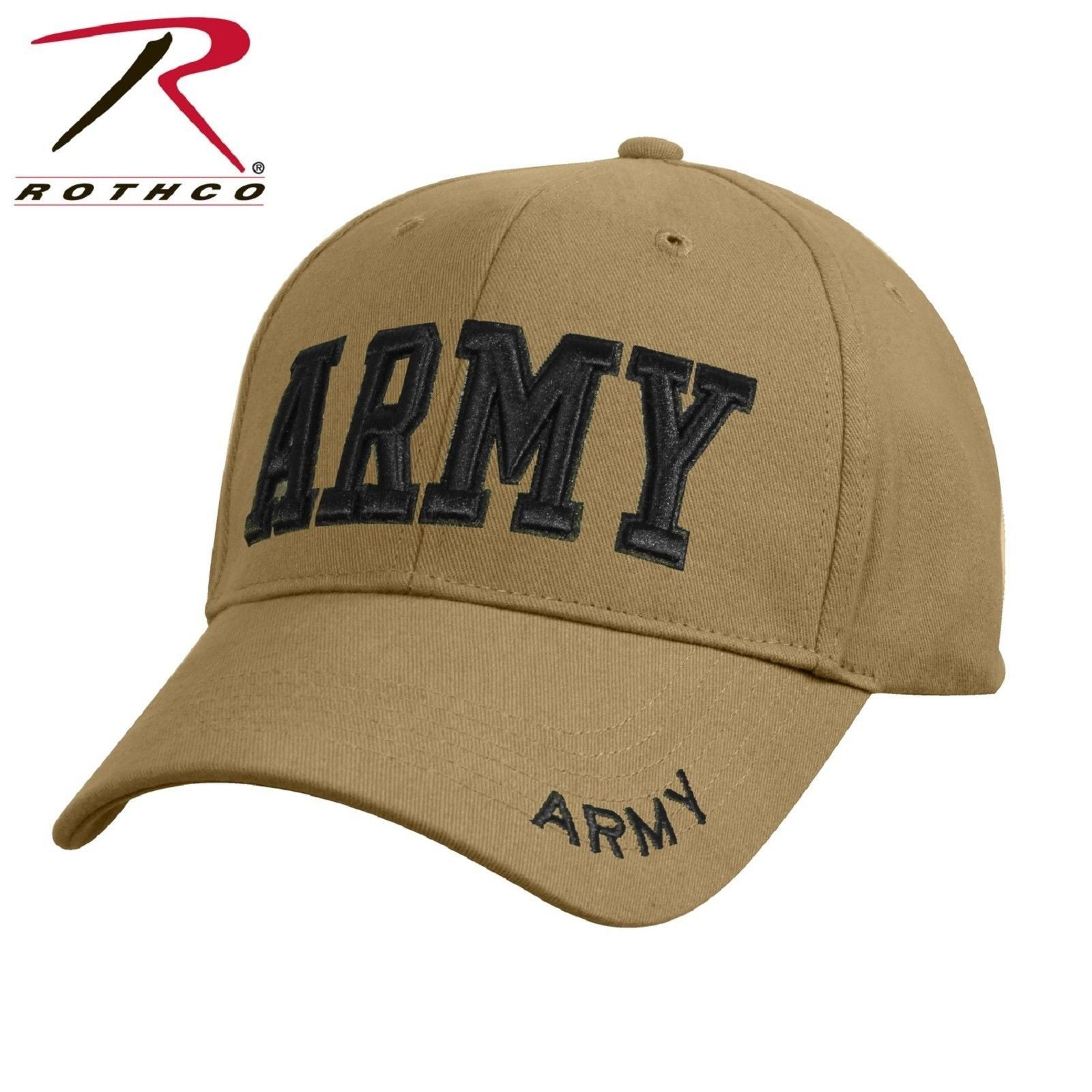 Coyote Brown Deluxe Low Profile Adjustable ARMY Baseball Cap Strapback Hat 373b09fefee