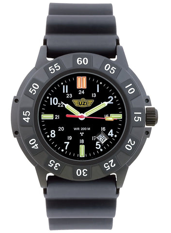 UZI Tritium Ultimate Protector Watch Self Illuminating Wristwatch Mens Watches