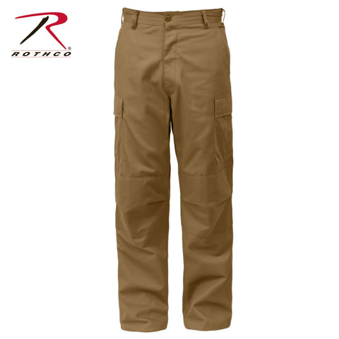 Rothco Relaxed Fit Zipper Fly BDU Pants - Coyote Brown Military Cargo Fatigues