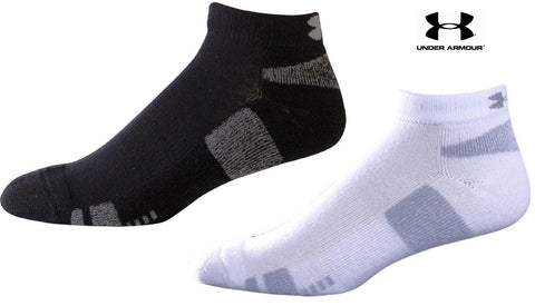 Under Armour Trainer Lo Cut Athletic Sock 3-PACK - Black or White UA Sport Socks