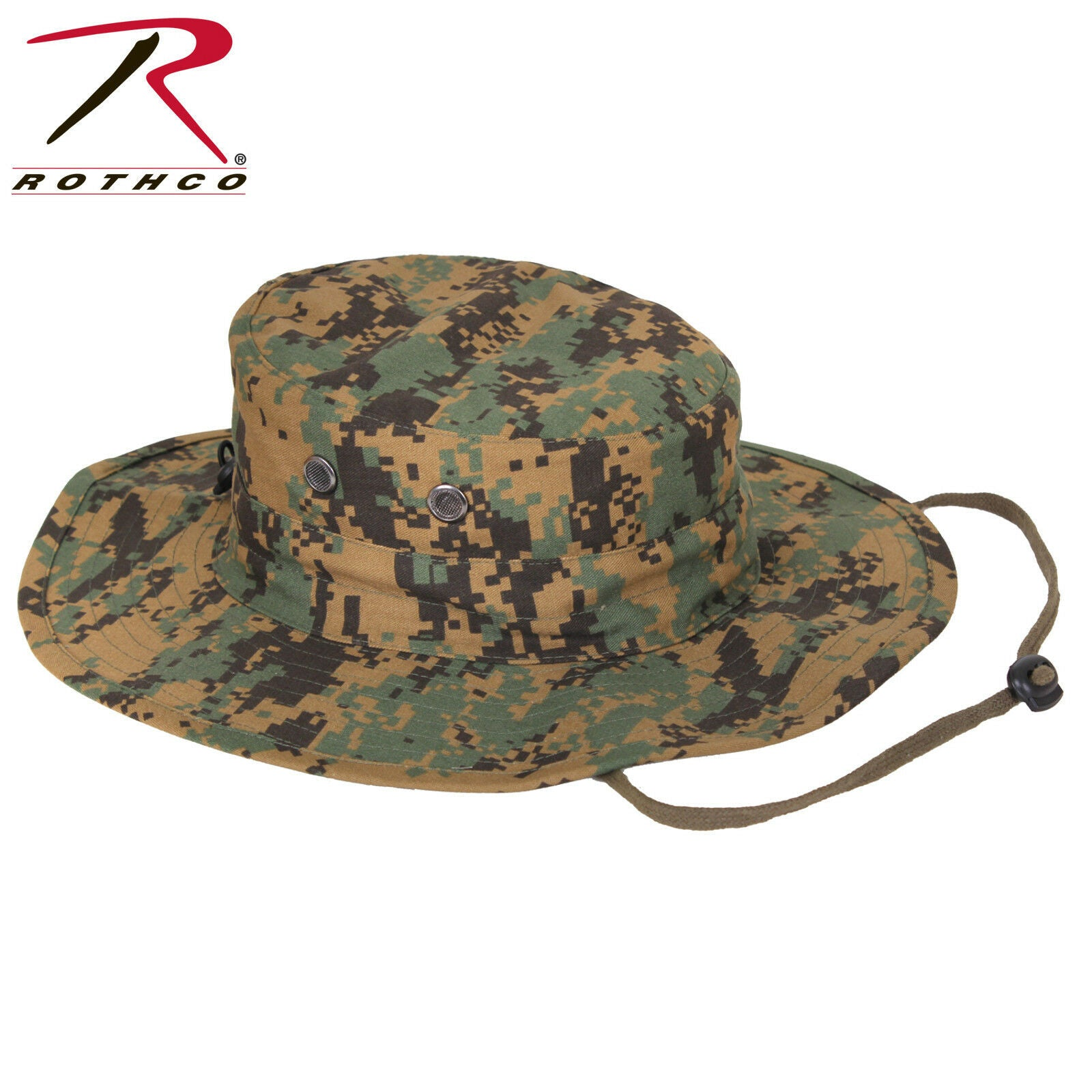 7ba923f249d Rothco Woodland Digital Adjustable Boonie Hat - Military Style Bucket Hat  OSFM. Zoom. Move your mouse over image or click to enlarge