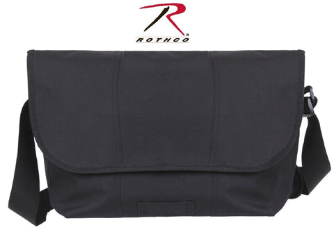 "Rothco Black Elusion Messenger Bag - 18"" Versatile Tactical Everyday Carry Bags"