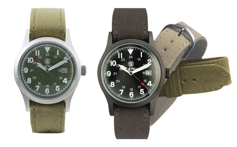 Smith & Wesson Military Watch w/ 3 Watchbands Rugged Mens Wristwatch Watches