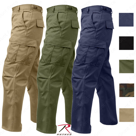Rothco Relaxed Fit Solid Colors Zipper Fly BDU Cargo Pants