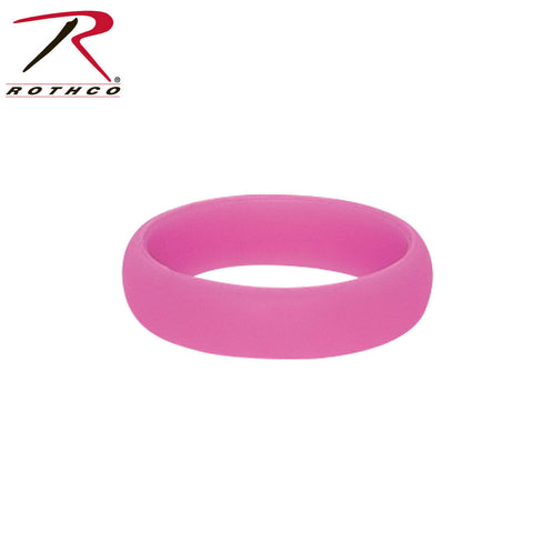 Rothco Pink Silicone Ring - Women's Work Safe Wedding Bands - Whole Sizes 6-10
