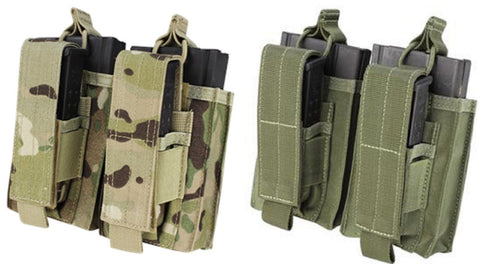Condor Double Kangaroo Mag Ammo Pouch - OD Black Tan or MultiCam
