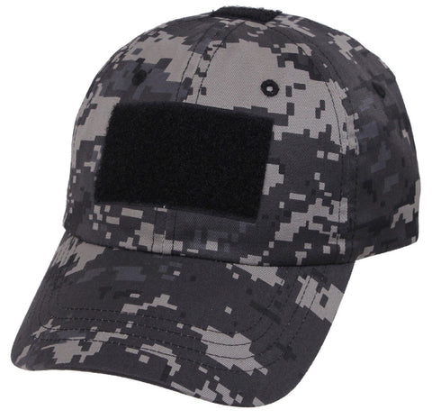 Subdued Urban Digital Camouflage Tactical Operator Cap - Patch Area Baseball Hat
