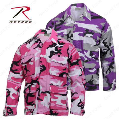 Rothco Ultra Violet or Pink Camo BDU Top - Mens Long Sleeve BDU Camo Shirt