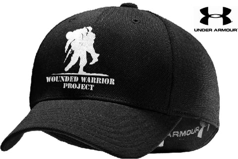 Under Armour Wounded Warrior Stretch-Fit Cap - Black UA WWP Flex Fitted Hat