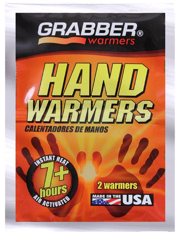 Grabber 7+ Hour Hand Warmers - 2 Per Pack Winter Hand, Pocket & Glove Warmer