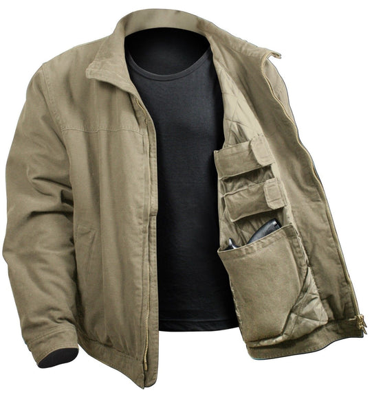 Men S 3 Season Concealed Carry Casual Tactical Jacket Coat