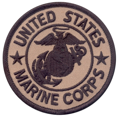 "Coyote Brown United States Marine Corps 3"" Velcro Military Patch Rothco 1585"