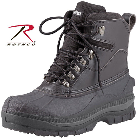 "Black Extreme Cold Weather Hiking Boots - Rothco 8"" Waterproof Winter Boots 5659"