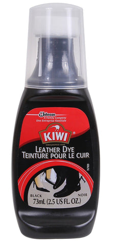 2.5 ounce Kiwi Black Leather Dye & Applicator - Restores Color and Finish