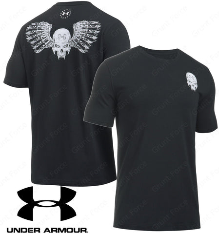 Under Armour Freedom Jack T-Shirt - UA Men's Black Tactical Charged Cotton Tee