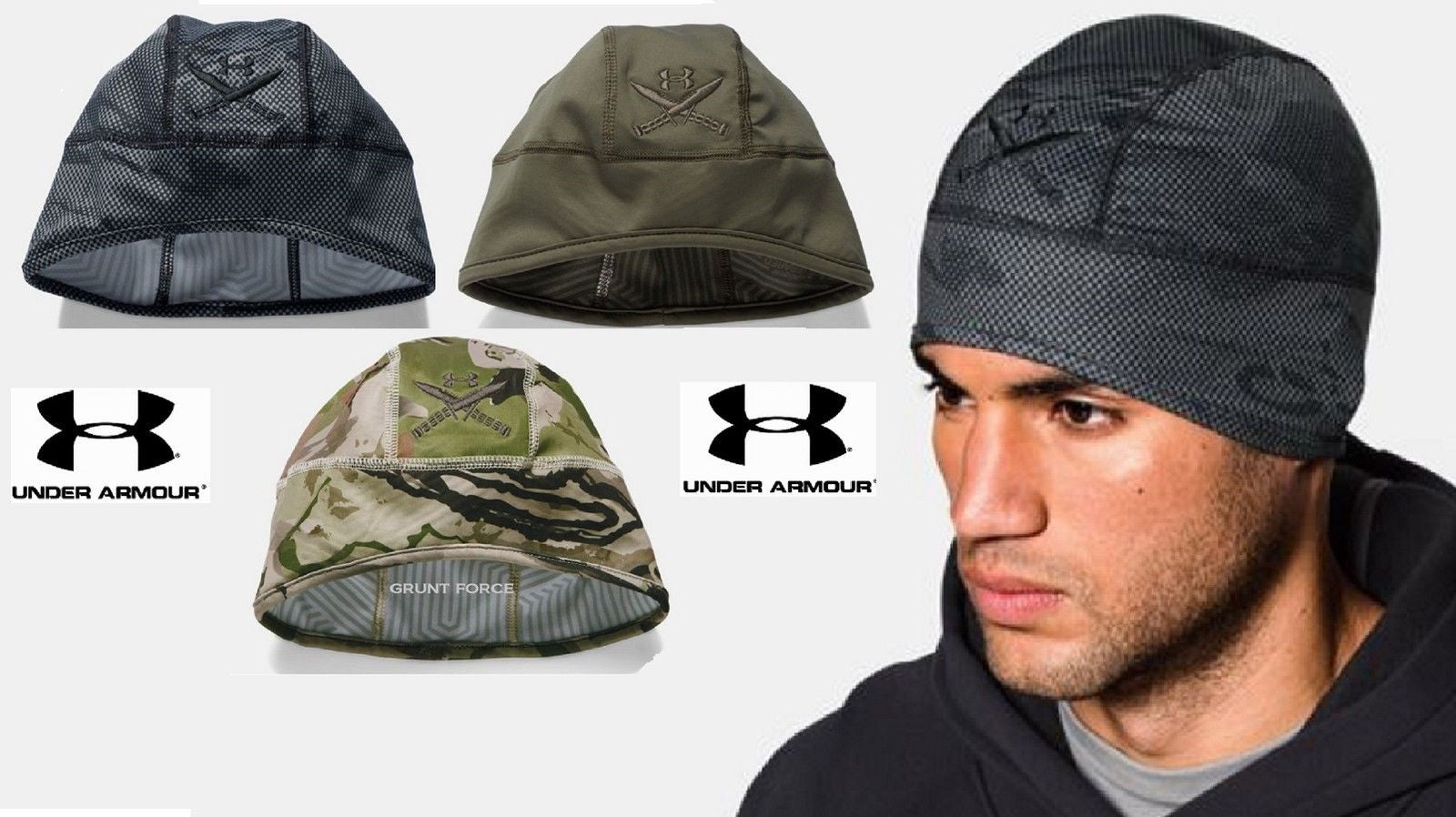 Under Armour Infrared ColdGear Beanie Hat - UA Tactical Winter Skull Cap  Beanies. 10c5dfba3f6