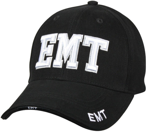 """E.M.T"" - Black - Deluxe Low Profile Baseball Cap"
