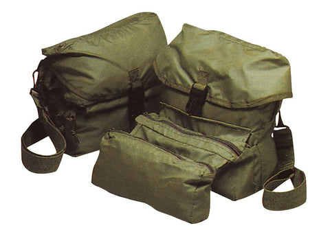 G.I. Style Medical Kit Bag - OD Military Type Med Kit Bag - 3 Zippered Sections
