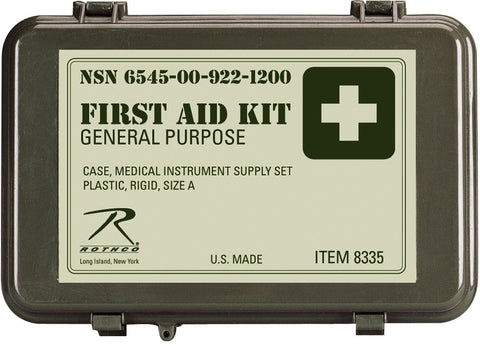 Military First Aid Kit - General Purpose OD Durable/Dry GSA Compliant U.S Made