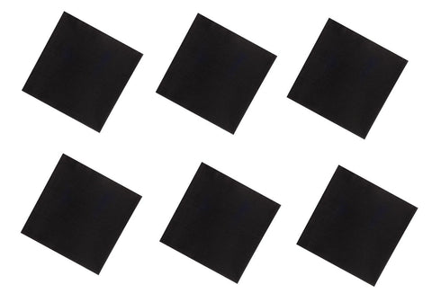 "6 PACK Black Bandanas LARGE 27"" Cotton"