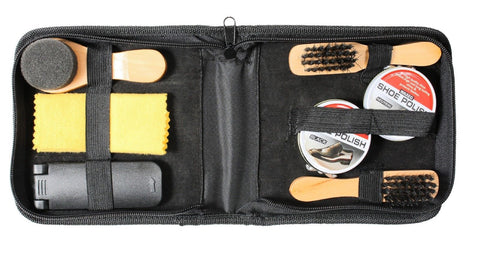 Deluxe Shoe Care Kit - Polish Brush Shine Kit for Boots Shoes Sneakers Cleaning