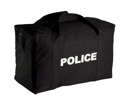 Large Black Cavas POLICE Logo Gear Bag