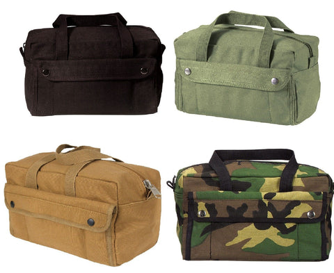 Mechanics Tool Bag Heavy Weight Cotton Canvas - Military Mini Duffle Tool Bags