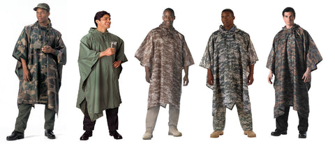G.I. Type Military Rip-Stop Poncho Woodland Camouflage