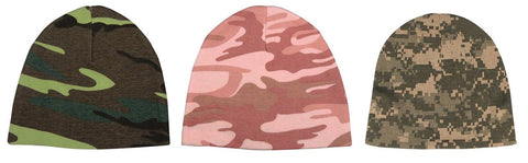 Camouflage Infant Crib Caps - ACU Digital, Woodland Camouflage, Baby Pink Camo