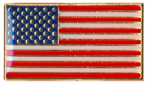 Classic Rectangular USA Flag Patriotic Pin Metal Iron U.S.A American US Flag Pin