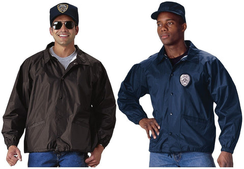 Blank Law Enforcement Coaches Jacket Black & Navy Blue - Police Security Coat