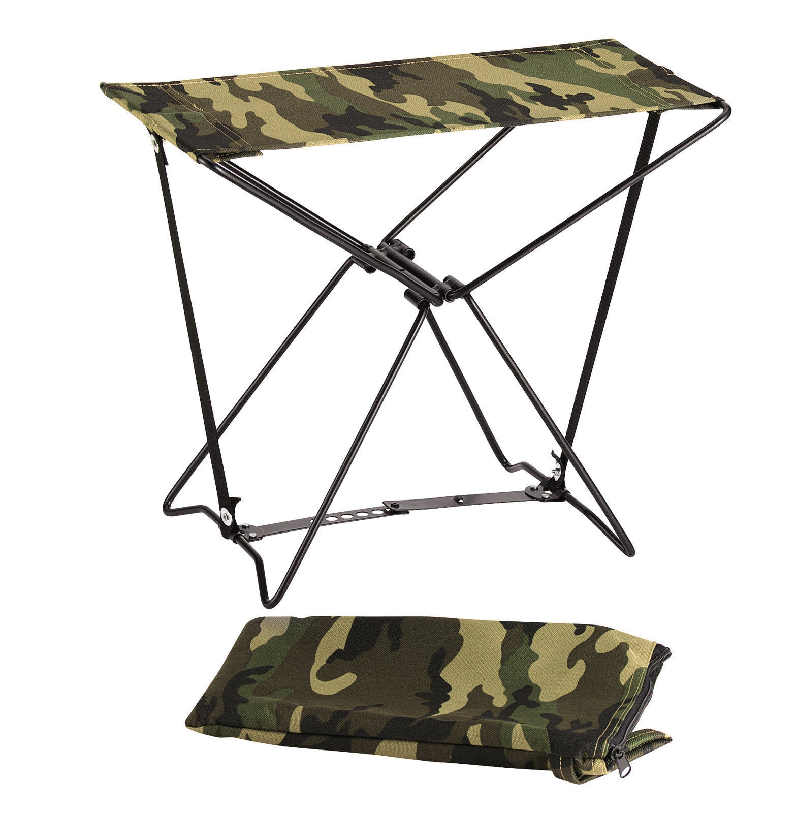 Folding Camping Stools Camouflage Hiking Chair Foldable