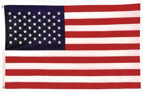 Deluxe United States US Flag with Embroidered Stars - 3 ft x 5 ft