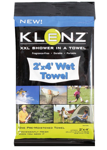 Camping Shower Towel - Shower In A Towel - Stay Clean Outdoors Easy- 2' x 4'