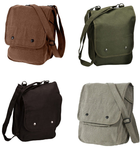 Map Case Shoulder Bags Durable Canvas School Messenger Casual Shoulder Bag