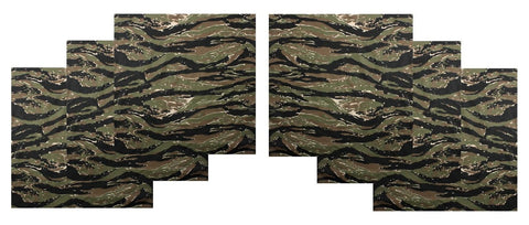 "Tiger Stripe Camo Bandana 6 PACK Camouflage 22"" Cool Cotton Casual Headwraps"