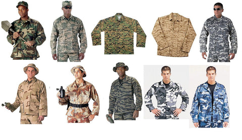 Military Type Tactical BDU Battle Dress Uniform Shirt