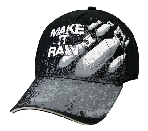 Deluxe Low Pro 'Make It Rain' Cap Hat - Black - Military Bombs